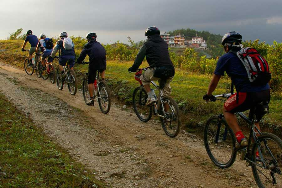 Day Mountain Biking for exploring around the Kathmandu or Pokhara city