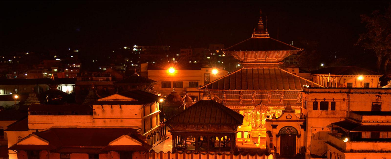 Evening Pray at Pashupatinath Temple with guidance of Local