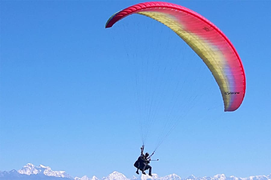 Nagarkot Paragliding to experience the Everest and Langtang range